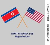 north korea and united states... | Shutterstock .eps vector #1063769414