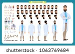 scientist character creation... | Shutterstock .eps vector #1063769684