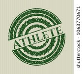 Green Athlete Distressed Rubbe...