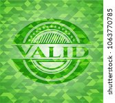 valid green emblem with... | Shutterstock .eps vector #1063770785