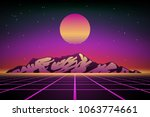 abstract 80s retro background...   Shutterstock .eps vector #1063774661