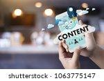 content marketing data blogging ...   Shutterstock . vector #1063775147