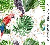 beautiful watercolor pattern... | Shutterstock . vector #1063776185