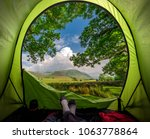 camping in district lake in... | Shutterstock . vector #1063778864