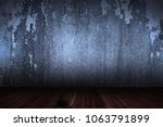 old brown wooden floor and wall ... | Shutterstock . vector #1063791899