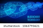 block chain. crypto currency.... | Shutterstock .eps vector #1063793621