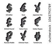 currencies isometric symbol... | Shutterstock .eps vector #1063793789