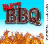 stock illustration   bbq party  ... | Shutterstock . vector #1063799201