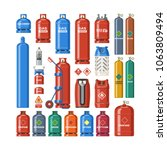 gas cylinder vector lpg gas... | Shutterstock .eps vector #1063809494