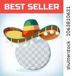 sombrero mexican hat....   Shutterstock .eps vector #1063810631