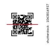 default icon  scanning qr code  ... | Shutterstock .eps vector #1063816937