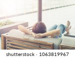 good life of easy relax asia... | Shutterstock . vector #1063819967