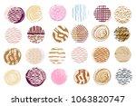 big set of vector handdrawn ... | Shutterstock .eps vector #1063820747