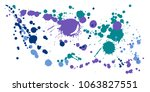 watercolor stains grunge... | Shutterstock .eps vector #1063827551