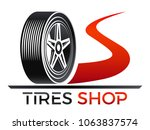 tires shop   tire on the road | Shutterstock .eps vector #1063837574