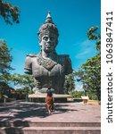 tourist female enjoying asian... | Shutterstock . vector #1063847411