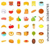 cure icons set. cartoon style... | Shutterstock . vector #1063869785