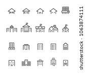 building line icon set | Shutterstock .eps vector #1063874111