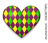colorful heart vector... | Shutterstock .eps vector #1063877891