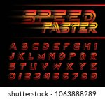 vector of futuristic alphabet... | Shutterstock .eps vector #1063888289