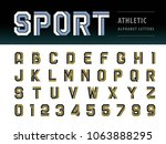 vector of athletic alphabet... | Shutterstock .eps vector #1063888295