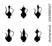 arabic jug and coffee pot ...   Shutterstock .eps vector #1063888367