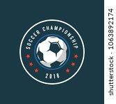 football  soccer logo. sport... | Shutterstock .eps vector #1063892174