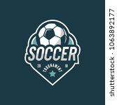 football  soccer logo. sport... | Shutterstock .eps vector #1063892177