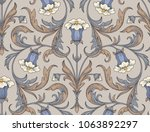 victorian style blue... | Shutterstock .eps vector #1063892297
