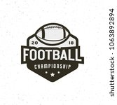 american football logo. sport... | Shutterstock .eps vector #1063892894