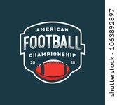 american football logo. sport... | Shutterstock .eps vector #1063892897