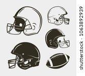 set of american football... | Shutterstock .eps vector #1063892939