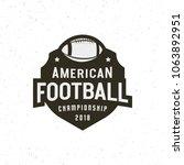 american football logo. sport... | Shutterstock .eps vector #1063892951