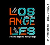 typography los angles t shirt...   Shutterstock .eps vector #1063895075