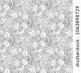 monochrome seamless pattern... | Shutterstock . vector #1063898729