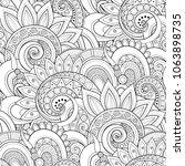 monochrome seamless pattern... | Shutterstock . vector #1063898735