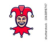 Joker Head. Jester Icon....