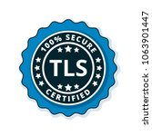 tls certified label illustration | Shutterstock .eps vector #1063901447
