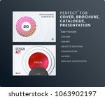 presentation. abstract red... | Shutterstock .eps vector #1063902197