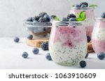 acai berry and chia seed... | Shutterstock . vector #1063910609