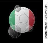 italy flag in soccer ball | Shutterstock .eps vector #106391084