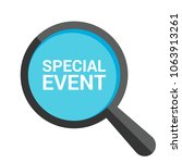 finance concept  magnifying... | Shutterstock .eps vector #1063913261