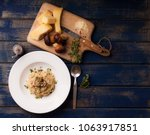 risotto with porcini mushrooms | Shutterstock . vector #1063917851