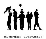 fathers day set  group of... | Shutterstock .eps vector #1063925684