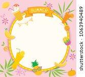 illustration vector of summer...   Shutterstock .eps vector #1063940489