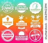 summer retro vector logo for...   Shutterstock .eps vector #1063942394