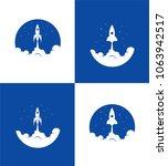 rocket ship launch banner....   Shutterstock .eps vector #1063942517