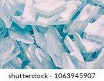 ice cracked breaking background ...   Shutterstock . vector #1063945907