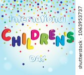 children's day vector... | Shutterstock .eps vector #1063953737