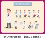 character doctor set. man... | Shutterstock .eps vector #1063958567